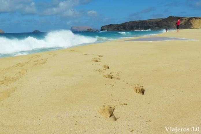 playa de las Conchas en el norte de La Graciosa