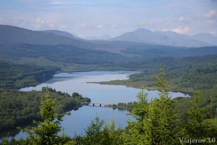 paisajes de las Highlands en Escocia