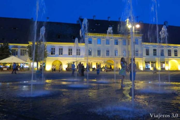 Centro de Sibiu en Transilvania (Rumanía)