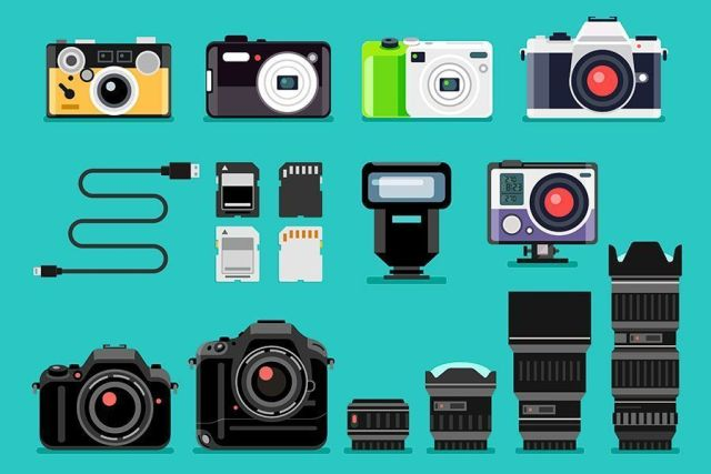 Equipo de fotografía de viajes