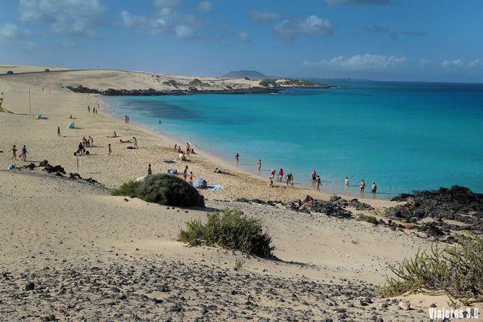 playa del Moro en Corralejo, las mejores playas de Fuerteventura