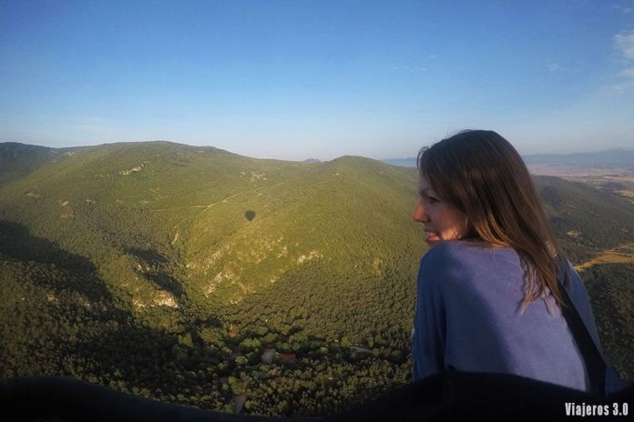 Montes Obarenes, vuelo en globo por La Rioja