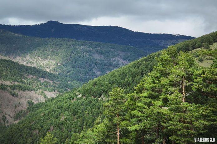 ruta por cascadas de Puente Ra en la Sierra de Cebollera
