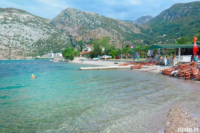 playas de Risan, ruta por la Bahía de Kotor
