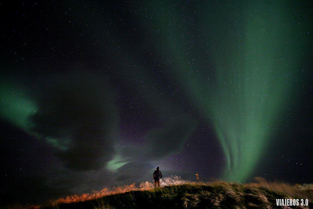 Dónde encontrar auroras boreales en Islandia