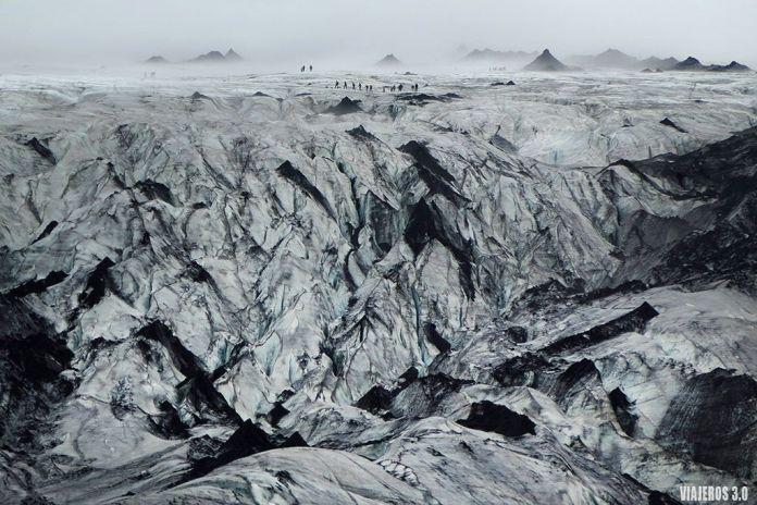 Glaciar Solheimajokull, itinerario por Islandia en 2 semanas