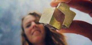 piritas encontradas en la mina de pirita de Navajún