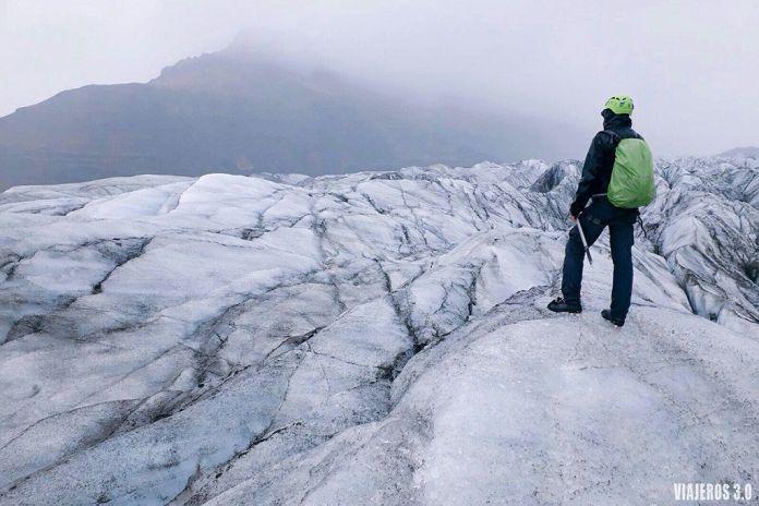 trekking por glaciar Skaftafell, ruta por Islandia