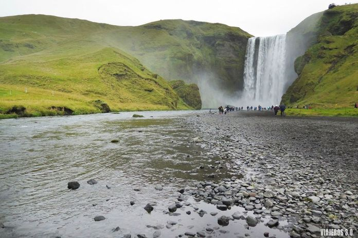 Viajar a Islandia en Septiembre, cascada de Skogafoss