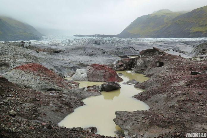 Trekking en Svínafellsjökull