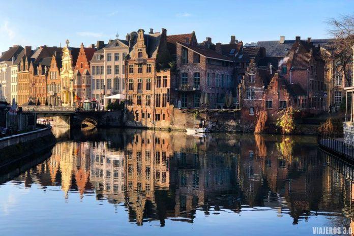 Canales de Gante. Ruta por Bélgica: Brujas, Gante y Bruselas en 4 días