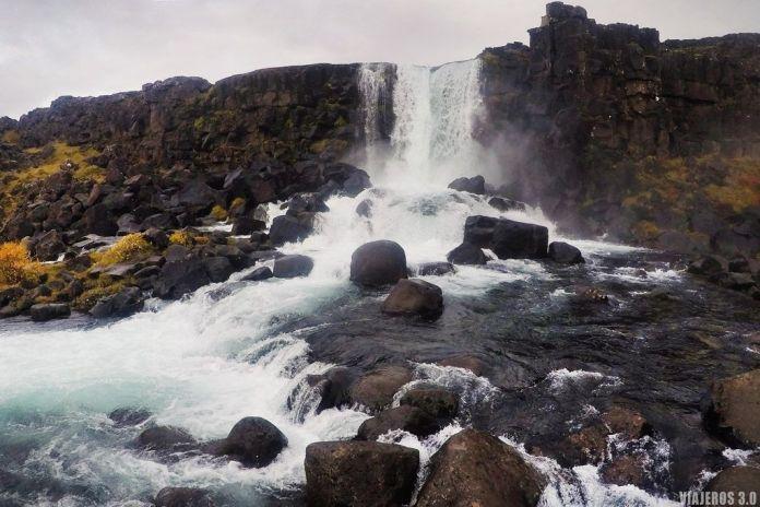 Ruta del Círculo Dorado en Islandia, cascada Oxararfoss