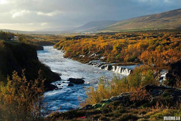 Hraunfoss, las mejores cascadas de Islandia