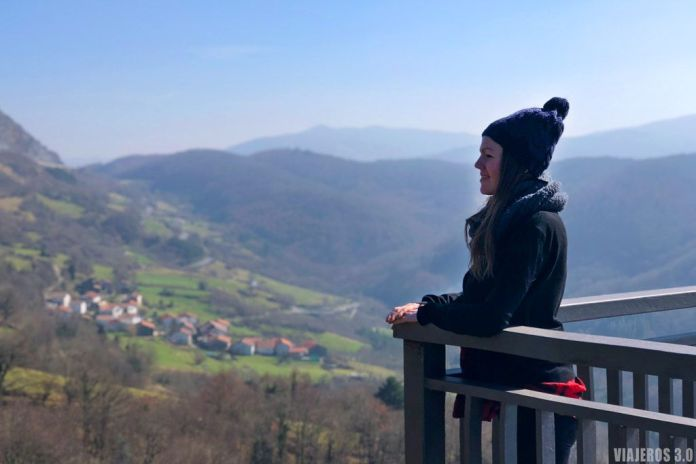 Rebeca Serna en el Parque Natural de Urbasa y Andía