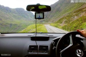 carreteras de una carril, conducir en Escocia por la izquierda