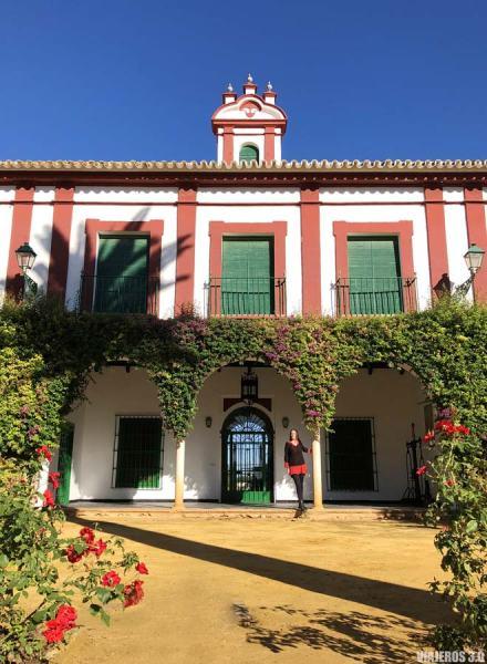 Patio del Señorío, Hacienda Guzmán, oleoturismo en Sevilla.