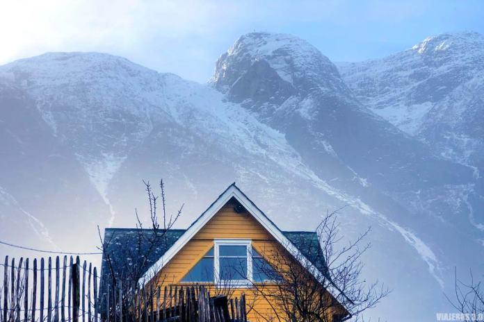 Casitas en Eidfjord, fiordo de Hardanger