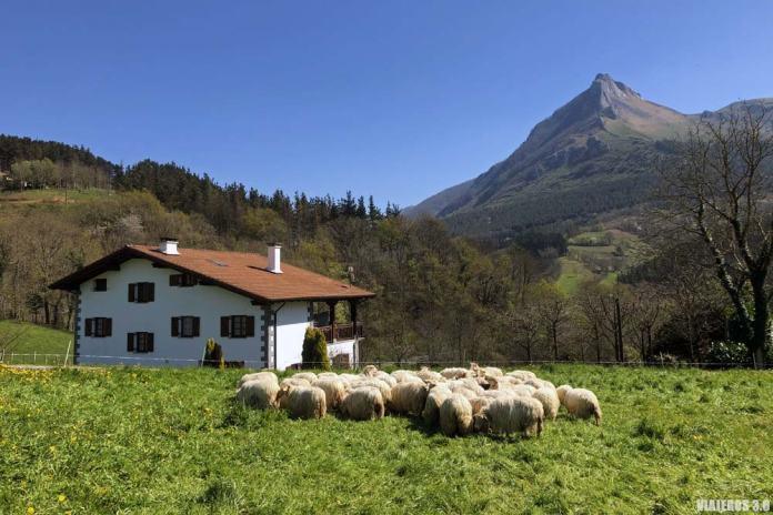 Ruta al monte Txindoki desde Larraitz