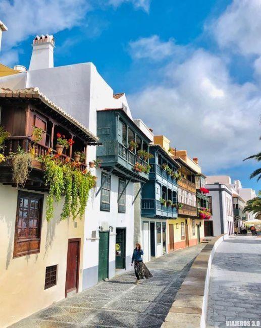 Balconadas de Santa Cruz de La Palma.