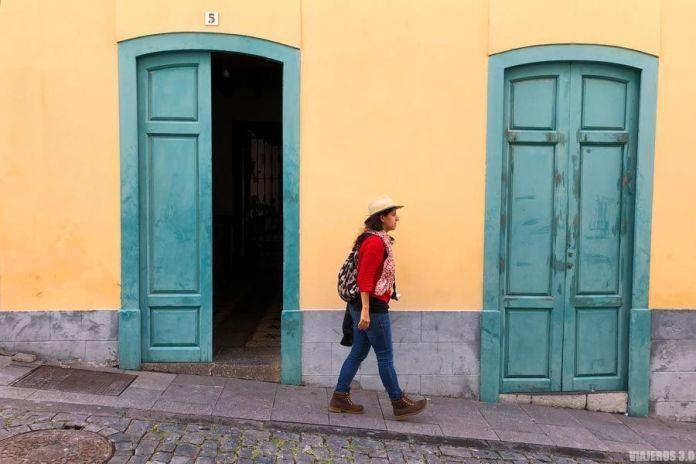 Arquitectura colonial en el centro de Santa Cruz de La Palma.