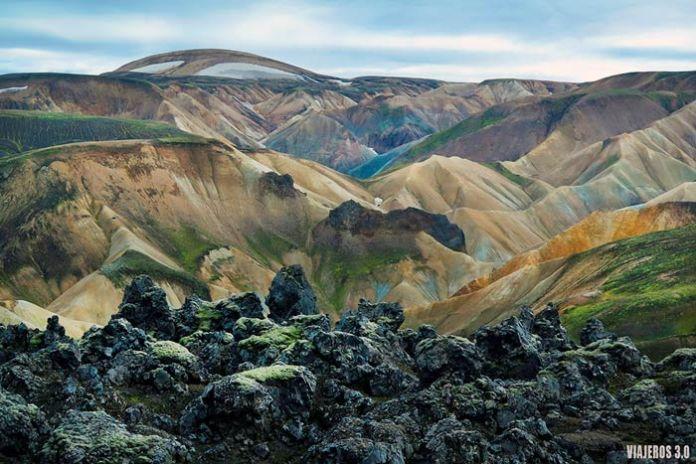 Vistas panorámicas en Landmannalaugar