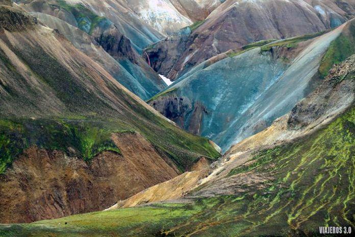 Montañas de colores en Landmannalaugar.