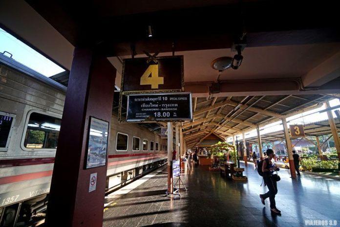 Estación de trenes de Chiang Mai.