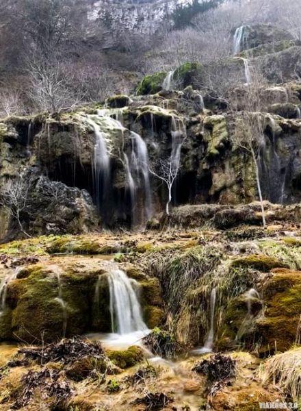 Cascada de Covalagua, rutas Montaña Palentina