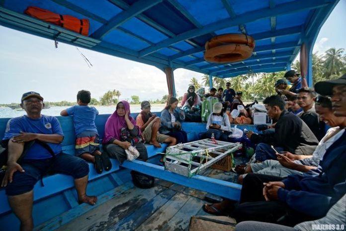 Barcos públicos en las islas Gili