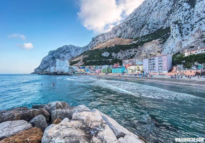 La Caleta, playas en Gibraltar.