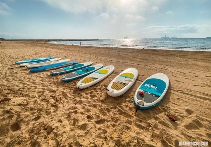 Paddle Surf en Sandy Bay.