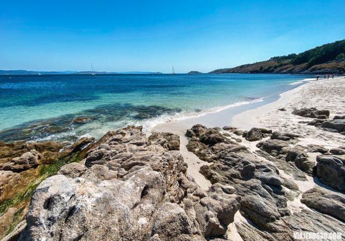 Playa de Melide en Ons, Islas Atlánticas de Galicia