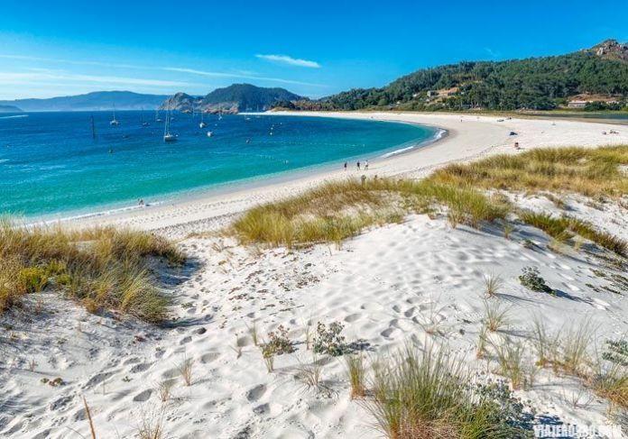 Playas de Rodas en Islas Cíes, Galicia