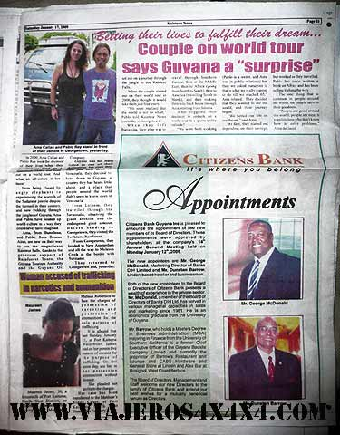 Around the World in 10 Years at Kaieteur News, newspaper from Guyana