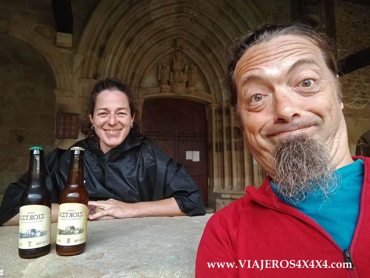 Probando cervezas de abadía