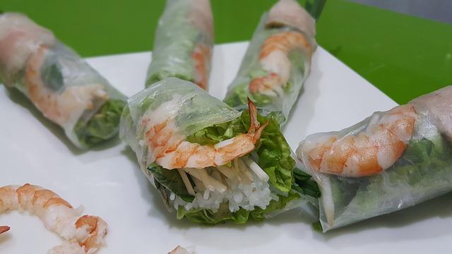 rollitos de verano  - comida tailandesa