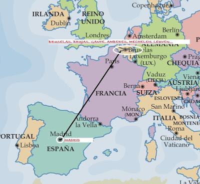 Introducción de la escapada a Bélgica.