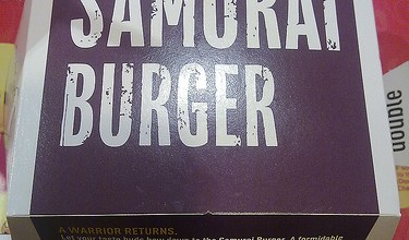 Photo of Samurai Burger de Mc Donald's en Singapur.