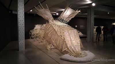 Exposición Theo Jansen: asombrosas criaturas. Espacio Fundación Edificio Telefónica Madrid.