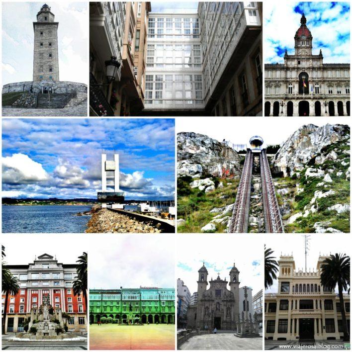 La_Coruña_Collage_ViajerosAlBlog