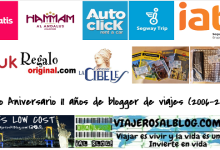 Sorteo Aniversario 11 años de blogger de viajes 2006-2017_ViajerosAlBlog