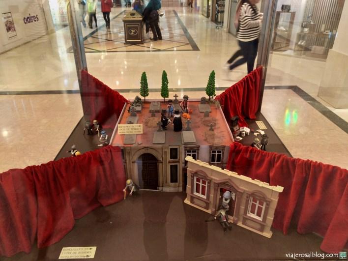 Exposición Playmoworld; dioramas con clicks de Playmobil. Centro Comercial Plaza Loranca 2 Fuenlabrada. Historia; Playmobil y Famobil.