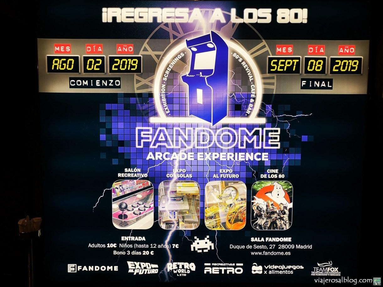 Exposición FANDOME ARCADE EXPERIENCE. Fandome Café & Expo Center. Madrid. Parte 3. Regreso al Futuro y TEAMFOX.
