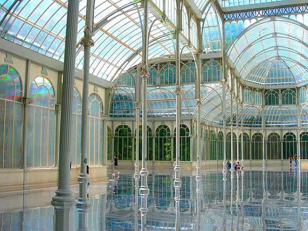 Resultado de imagen de palacio de cristal madrid interior