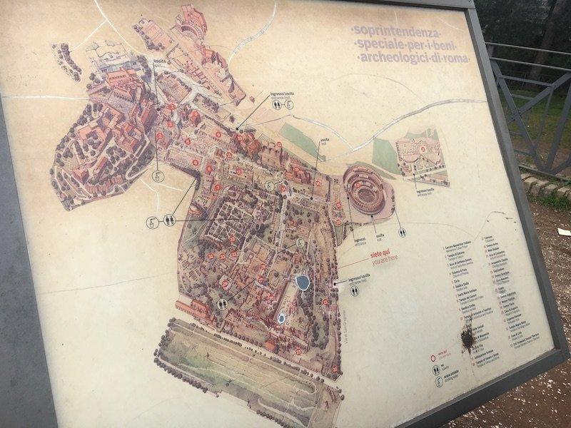 mapa restos imperiales roma