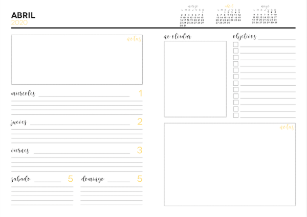 agenda personalizada para imprimir