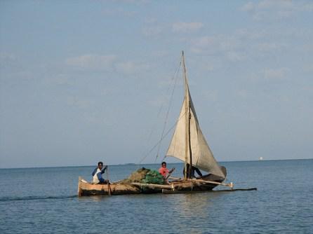 Barco de pesca en Madagascar