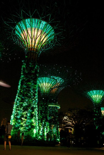 Los súper árboles de Singapur en verde