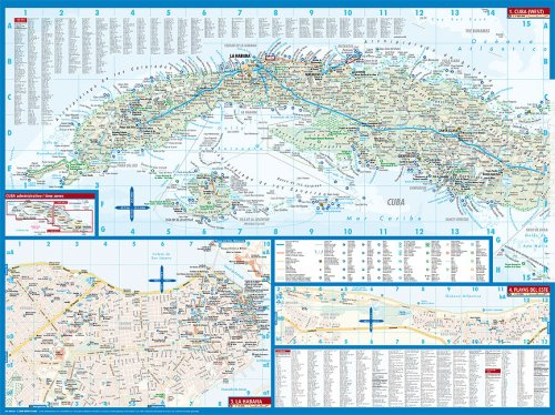 Laminated Cuba Map by Borch (English Edition) 2