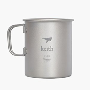 Keith Titanium Mug Outdoor Cup Camping Cup Only 62g 11